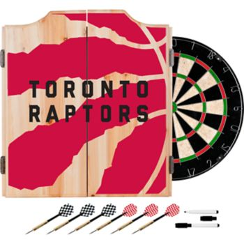 Toronto Raptors Wood Dart Cabinet Set