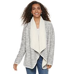 Women's SONOMA Goods for Life™ Supersoft Fleece Sherpa Cardigan
