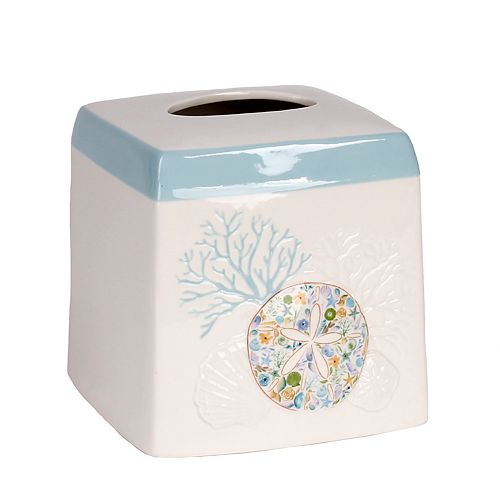 Saturday Knight, Ltd. Seaside Blossoms Tissue Box Cover