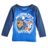 "Toddler Boy Jumping Beans® Paw Patrol Chase & Marshall ""All-Star Pups"" Raglan Tee"