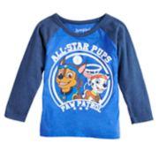 "Toddler Boy Jumping Beans® Paw Patrol Chase & Marshall ""All-Star Pups"" Raglan Tee"