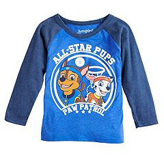 Toddler Boy Jumping Beans® Paw Patrol Chase & Marshall 'All-Star Pups' Raglan Tee
