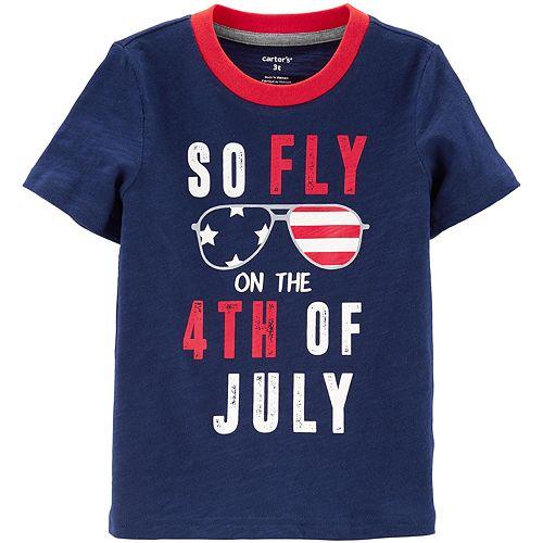 Toddler Boy Carter's So Fly 4th Of July Slub Tee