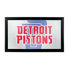 Detroit Pistons Logo Framed Mirror