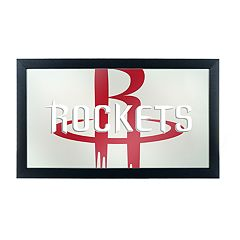 Houston Rockets Logo Framed Mirror