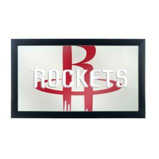 Houston Rockets Logo Framed Mirror