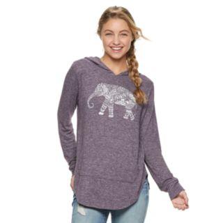 Juniors' Hamsa Elephant Cozy Hoodie