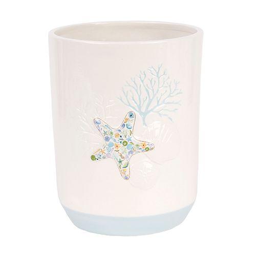 Saturday Knight, Ltd. Seaside Blossoms Wastebasket