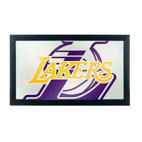 Los Angeles Lakers Logo Framed Mirror