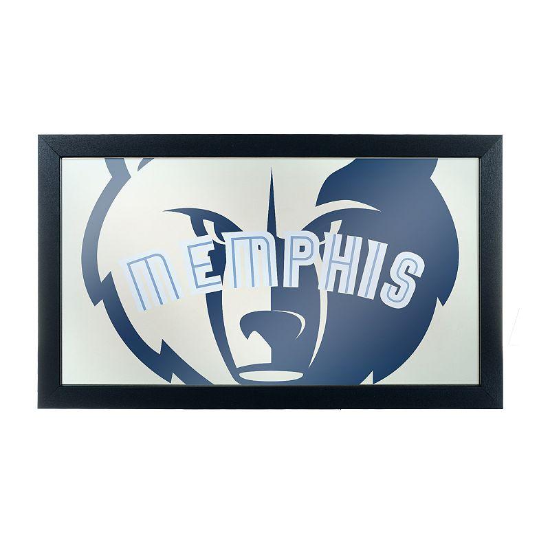 Memphis Grizzlies Logo Framed Mirror, Blue
