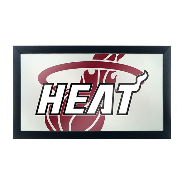Miami Heat Logo Framed Mirror