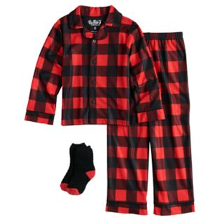 Boys 4-10 Up-Late Pajamas & Socks Set