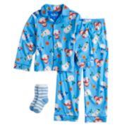 Boys 4-10 Up-Late Pajamas & Socks Set