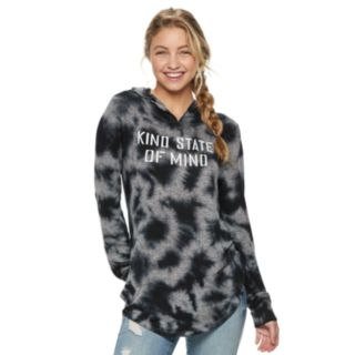 "Juniors' ""Kind State of Mind"" Tie-Dye Cozy Hoodie"