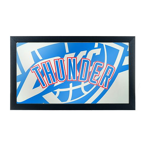 Oklahoma City Thunder Logo Framed Mirror