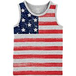 Toddler Boy Carter's 4th Of July Flag Slub Tank