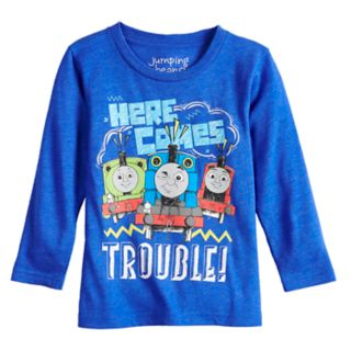 """Toddler Boy Jumping Beans® Thomas & Friends """"Here Comes Trouble"""" Percy, Thomas & James Long Sleeve Graphic Tee"""