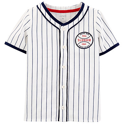 Toddler Boy Carter's Americana Baseball Button-Front Shirt