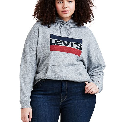 Plus Size Levi's® Logo Hooded Sweatshirt