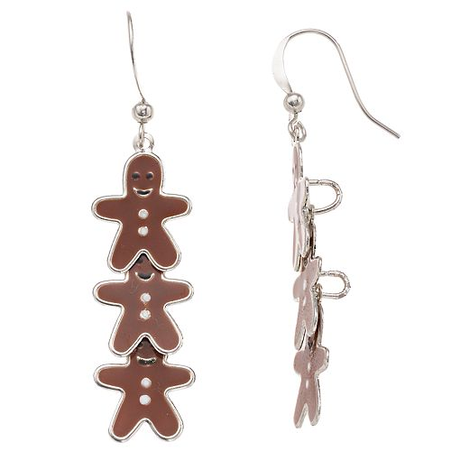 Gingerbread Men Nickel Free Drop Earrings