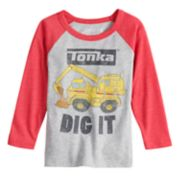 "Toddler Boy Jumping Beans® Tonka ""Dig It"" Raglan Graphic Tee"