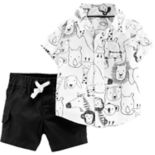 Baby Boy Carter's Animal Shirt & Shorts Set
