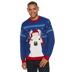 Men's Llama Christmas Sweater
