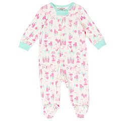 Baby Girl Cuddl Duds Princess, Castle & Unicorn Print Sleep & Play