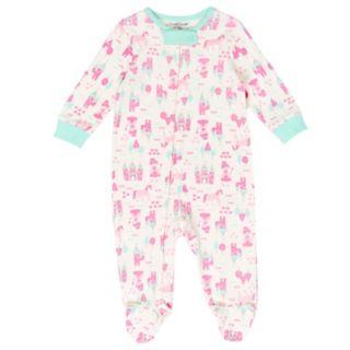 Baby Girl Cuddl Duds Princess, Castle & Unicorn Print Sleep & Play