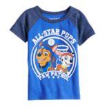"Toddler Boy Jumping Beans® Paw Patrol Chase & Marshall ""All Star Pups"" Raglan Graphic Tee"