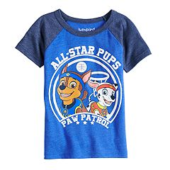Toddler Boy Jumping Beans® Paw Patrol Chase & Marshall 'All Star Pups' Raglan Graphic Tee