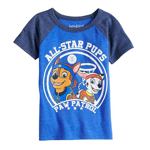 "Toddler Boy Jumping Beans® Paw Patrol Chase & Marshall ""All Star Pups"" Raglan Graphic Tee"