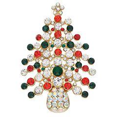 Red & Green Christmas Tree Pin