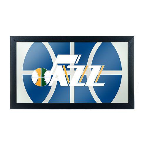 Utah Jazz Logo Framed Mirror