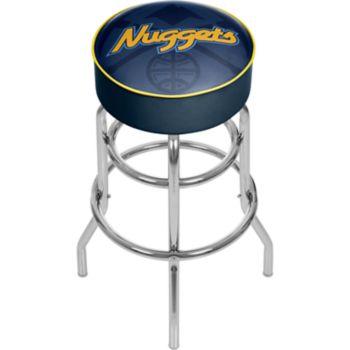 Denver Nuggets Padded Swivel Bar Stool