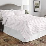Pointehaven Print 200 Thread Count Percale Cotton Quilt Set