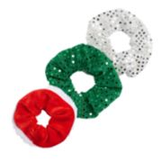 Sequin Christmas Ponytail Holder Set