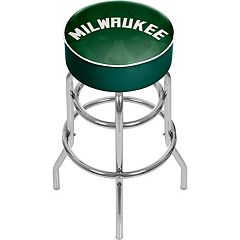 Milwaukee Bucks Padded Swivel Bar Stool