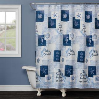 Saturday Knight, Ltd. Seaside Sentiments Shower Curtain