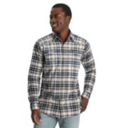 Men's Wrangler Plaid Snap-Front Western Shirt