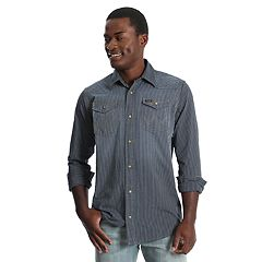 Men's Wrangler Striped Snap-Front Western Shirt