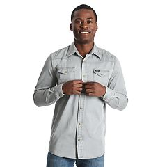 Men's Wrangler Steel Gray Snap-Front Western Shirt