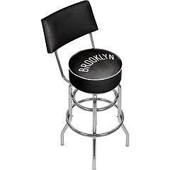 Brooklyn Nets Padded Swivel Bar Stool with Back