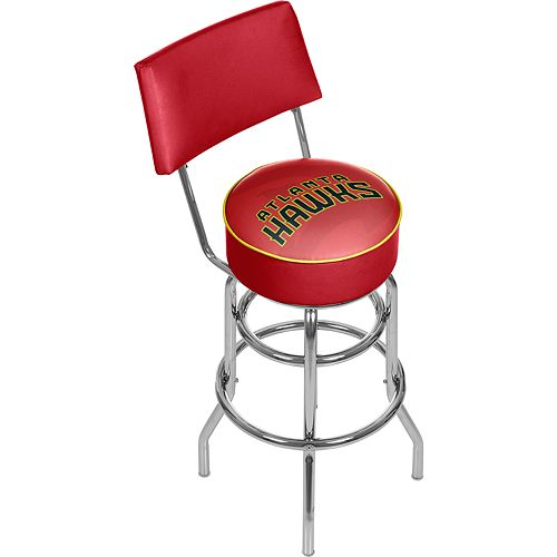Atlanta Hawks Padded Swivel Bar Stool with Back