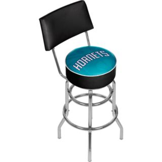 Charlotte Hornets Padded Swivel Bar Stool with Back