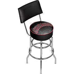 Chicago Bulls Padded Swivel Bar Stool with Back