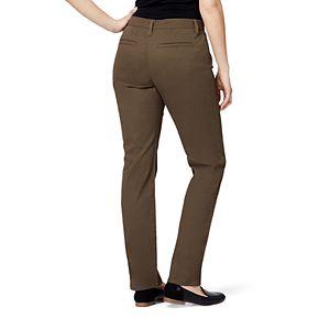 Petite Gloria Vanderbilt Amanda Modern Tapered Twill Trouser Pants