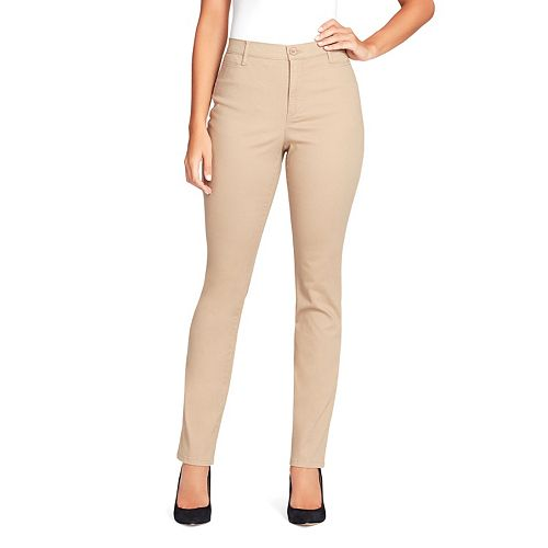 Petite Gloria Vanderbilt Amanda Modern Tapered Twill Trouser Pants