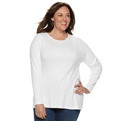 Plus Size Croft & Barrow® Classic Crewneck Tee
