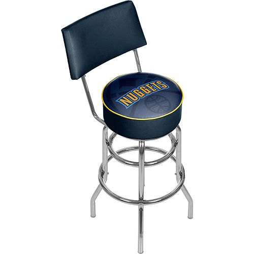 Denver Nuggets Padded Swivel Bar Stool with Back